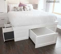 Platform Bed Storage Plans Free by Best 25 Platform Bed With Drawers Ideas On Pinterest Platform