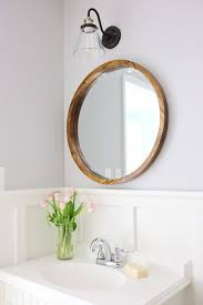 round wood mirror diy angela marie made