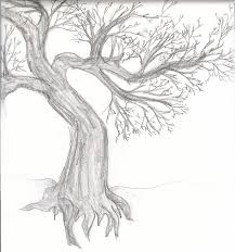 old gnarled tree sketch by sweet briar on deviantart
