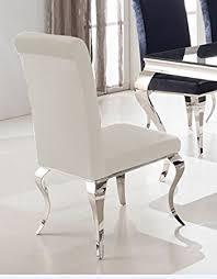 stuehle esszimmer esszimmerstuhl luca barock design samtstoff stoff weiß stuhl