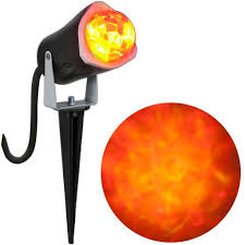 orange u0026 yellow outdoor spot light kaleidoscope halloween