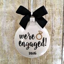 engagement ornament engaged ornament personalized engagement