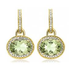 green amethyst earrings mcdonough green amethyst oval drop earrings kate middleton