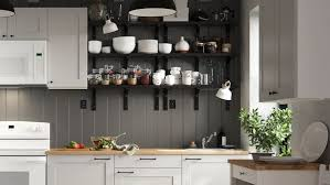 wall hung kitchen cabinets a personal and convenient knoxhult kitchen ikea