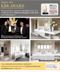 ripples bathrooms ripples win industry design award