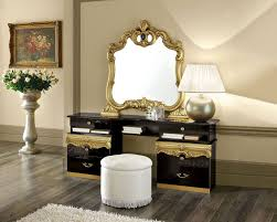 Black And Mirrored Bedroom Furniture Barocco Black W Gold Camelgroup Italy Classic Bedrooms Bedroom