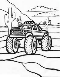 free printable monster truck coloring pages for kids 4162