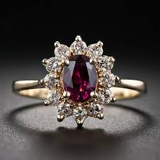 small ruby rings images This is a small scale traditional cluster ring featuring a sweet jpg