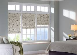 Printed Fabric Roman Shades - roman shades elevated views