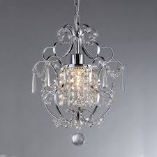 Chandelier Single Single Light Crystal Chandelier Free Shipping Today Overstock