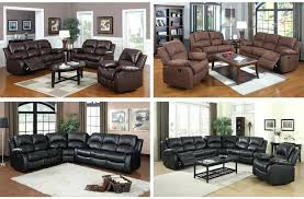 Used Reclining Sofa Bonded Leather Recliner Sofa Black Bonded Leather Reclining Sofa