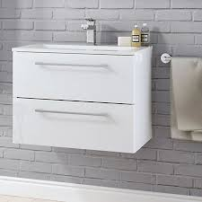 Slimline Vanity Units Bathroom Furniture Bathroom Furniture Cabinets Free Standing Furniture Diy At B Q
