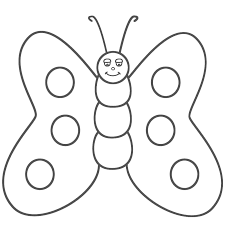 pic of butterfly simple in black n white for colouring for