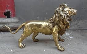 foo lion statue suirong 609 23 brass animals ferocious fengshui foo fu
