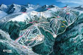 Ski Resorts In Colorado Map by Ski Trail Map Artist Kevin Mastin