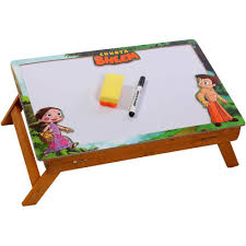 kids cartoon writing and drawing desk with activity table with