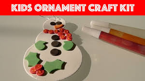 unboxing kids christmas ornament craft kit snowman u0026 snowflakes