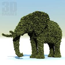 Elephant Topiary Topiary 3d Models Turbosquid Com