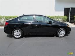 2012 black honda civic black pearl 2012 honda civic ex l sedan exterior photo