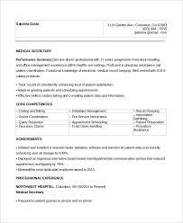 Example Of Secretary Resume by Sample Secretary Resume 8 Examples In Word Pdf