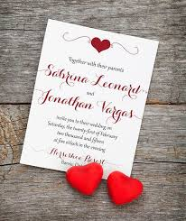 Red And Black Wedding Invitations Heart Wedding Invitation Card With Envelope