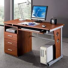 Desk With Computer Storage Techni Mobili Super Storage Computer Desk Espresso Walmart For