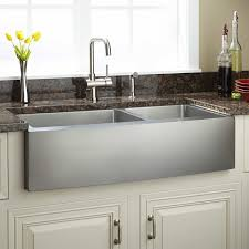42 inch kitchen sink 42 fournier 60 40 offset double bowl stainless steel farmhouse sink