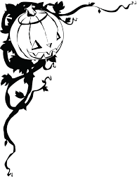 halloween border black and white free clipart images clipartix