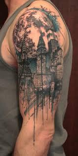 simple shoulder town tattoo tattoomagz