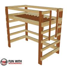 twin size loft bed u2013 full plans u2013 fun with woodworking