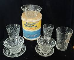 Tanning Bed Glass Replacement Vintage Crystal Wedding Oats Box U0026 Full Set 8 Pieces Of Oatmeal