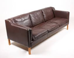 Brown Leather Sofas Brown Danish Three Seater Leather Sofa From Stouby 1980s For Sale
