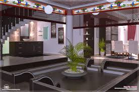 kerala style home plans with interior courtyard home pattern
