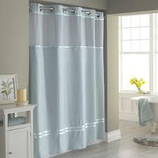 Bathroom Shower Windows by Bathroom Hookless Fabric Shower Curtain With Window Clear