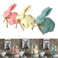 wooden bunny happy easter rabbit decor ornaments