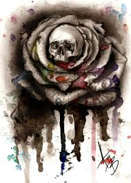 watercolor skull design best designs
