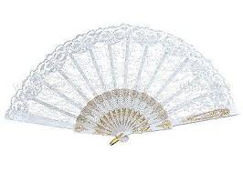 lace fans 12 pcs lace fans white deer wholesale