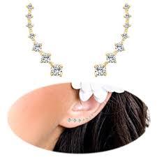 ear pin ear crawler earrings fashion stainless steel cz ear