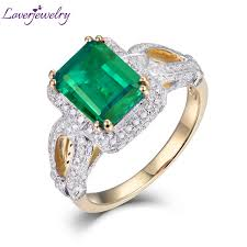 emerald jewelry rings images Hot sale 2 55ct natural diamond emerald ring in solid 14kt yellow jpg