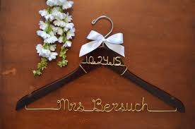 personalized wedding hangers personalized hanger with wire date twisted hangers