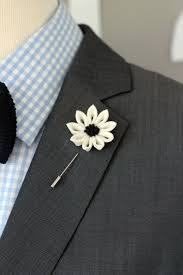 silver matching services white flower lapel pin mens lapel flower by nevestica