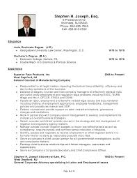 Sample Law Student Resume Stephen H Joseph Resume Labor And Employment