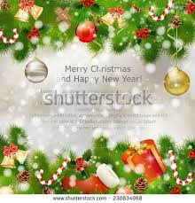 merry christmas greeting card gift boxes stock vector 230834968