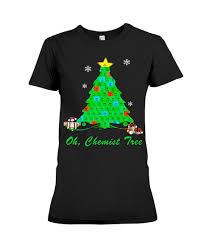 oh chemist tree shirt christmas tree