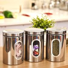 stainless kitchen canisters kitchen containers canisters by kitchen containers flour sugar