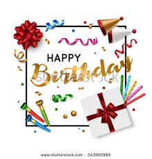 happy birthday card template vector eps stock vector 364708616