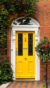 yellow front door home interior design