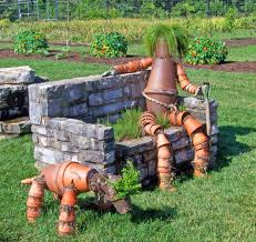 brown clay flower pot dog and human outdoor decor free image peakpx