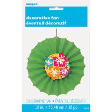 decorative fan hibiscus tissue paper decorative fan luau party decorations