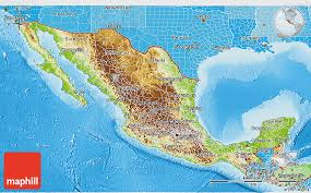political map of mexico physical 3d map of mexico political shades outside shaded relief sea